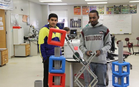 Engineering students compete in robotics events