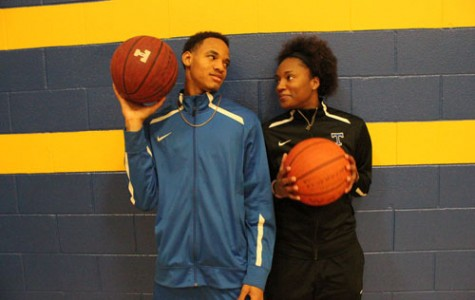 From left, Joseph Jones and Alayjah Sherer are leading their respective teams in scoring.