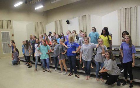 Synergy Show Choir  Practice 9.13.15