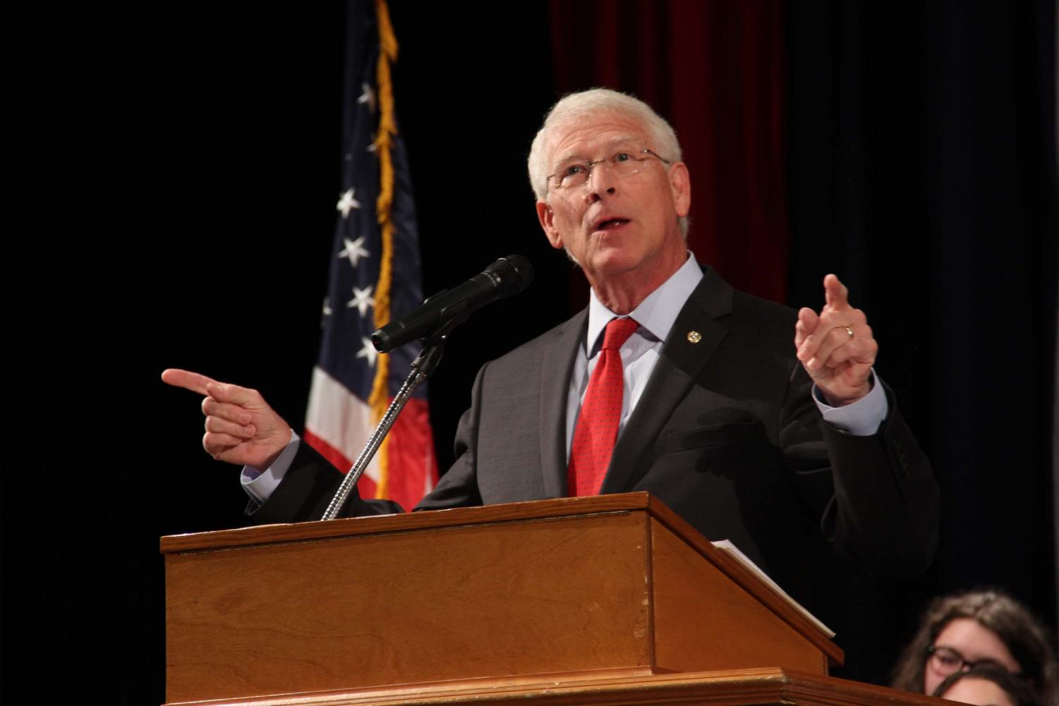 Senator Wicker spoke on the importance and privilege of voting.