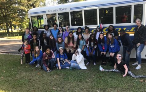 The Spanish club attends  the Día de Los Muertos Parade and Festival at the Brooks Museum in Memphis, TN  on October 27, 2018.