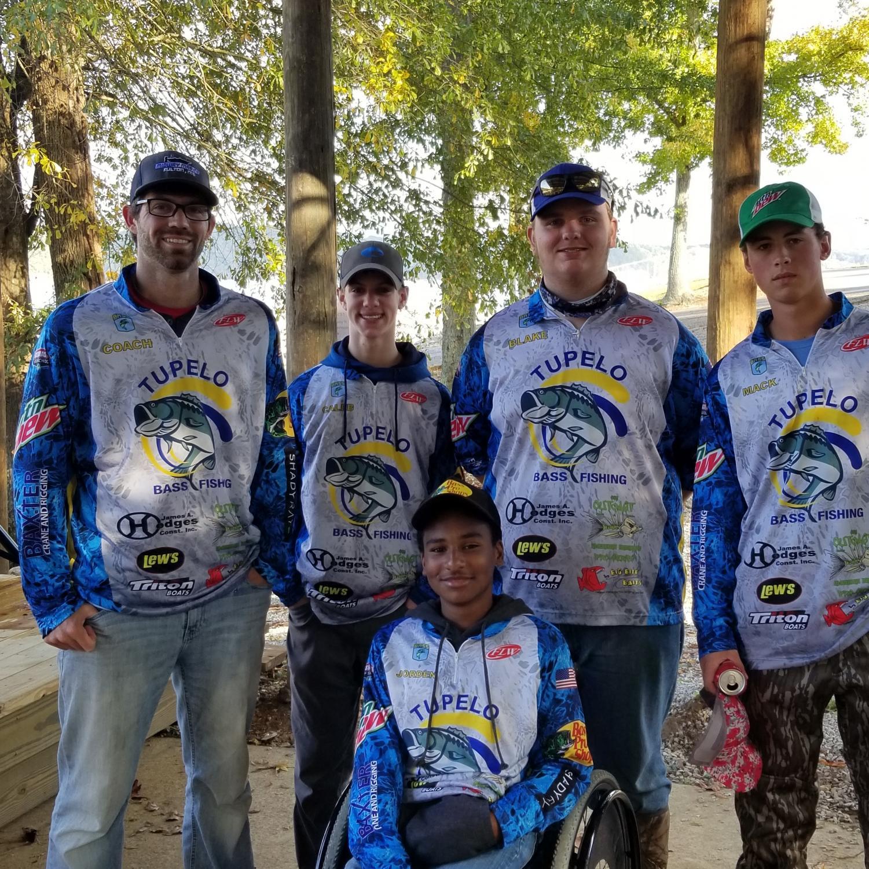 THS Teacher Robert Pressley with the Bass Fishing Team.