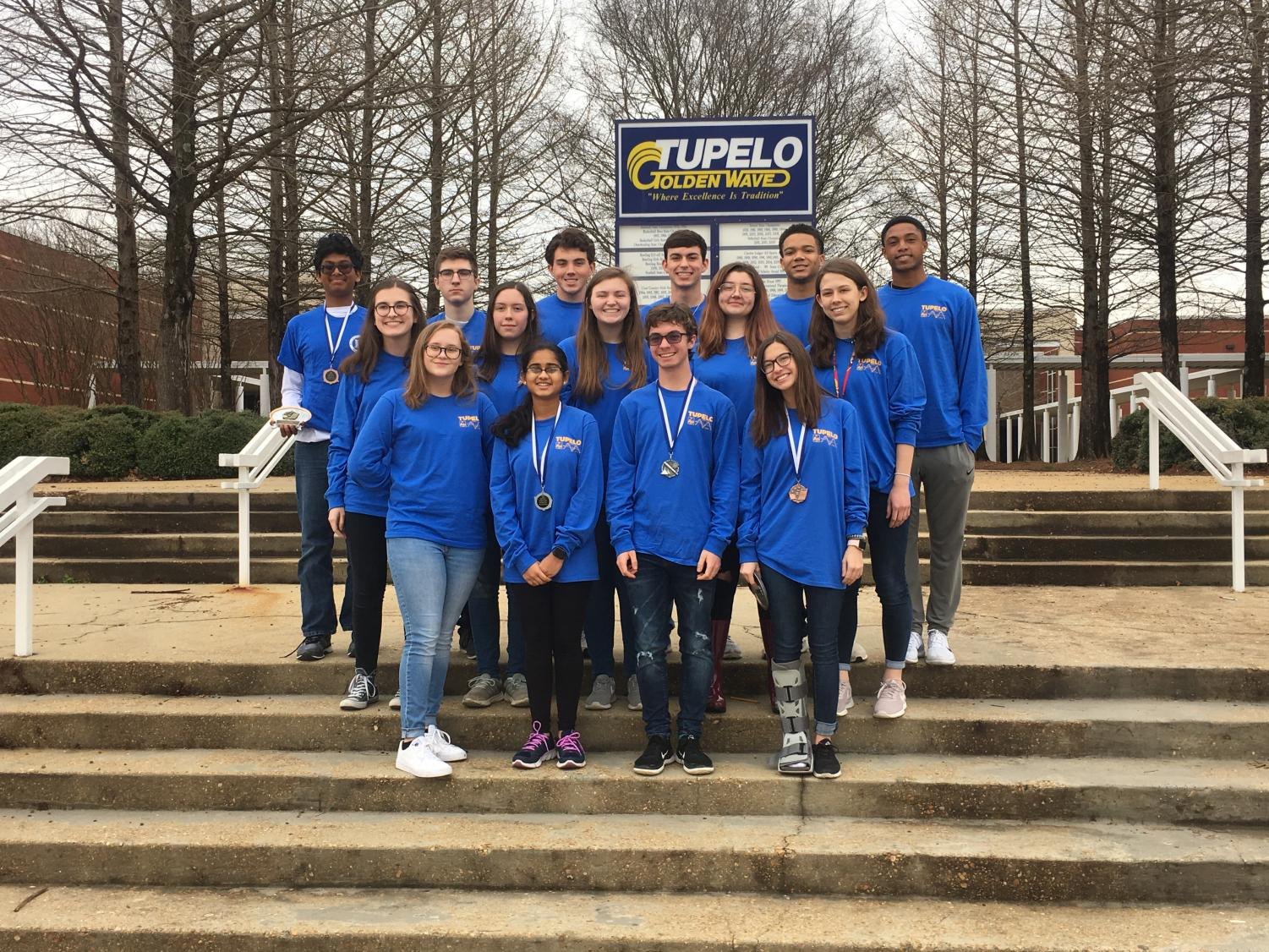 Members of the Math and Science team competed at Blue Mountain College on  February 12, 2019 and at Mississippi School Math Science on February 15.