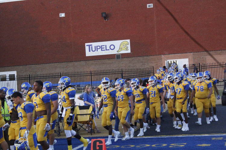 Tupelo is ready run out on the field
