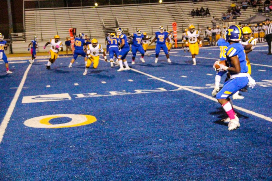 The Golden Wave Football team lost to Olive Branch 24-14 on Oct. 4.