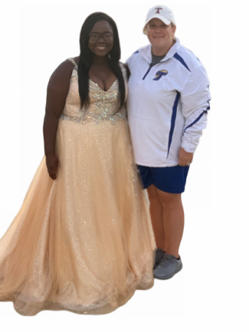Senior Nakyia Cayson shows out on two fields in one Homecoming Night.