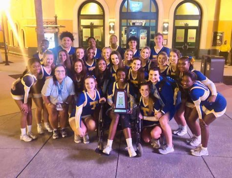 Coed cheer places fourth at national competition.