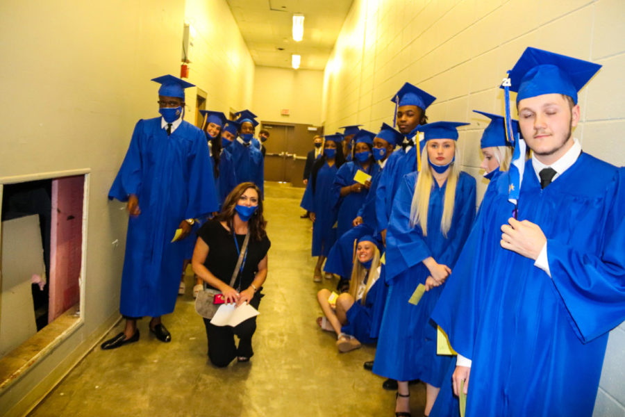 Tupelo High School Class of 2021 Graduation at BancorpSouth Arena, May 21, 2021.  Row Seventeen.