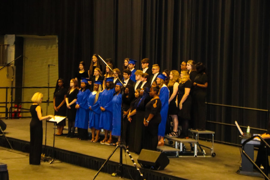 Tupelo High School Class of 2021 Graduation at BancorpSouth Arena, May 21, 2021. MadJazz members begin the ceremony with a selection of songs including