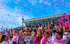 Pink Out Pep Rally Held at Tupelo Golden Wave Stadium